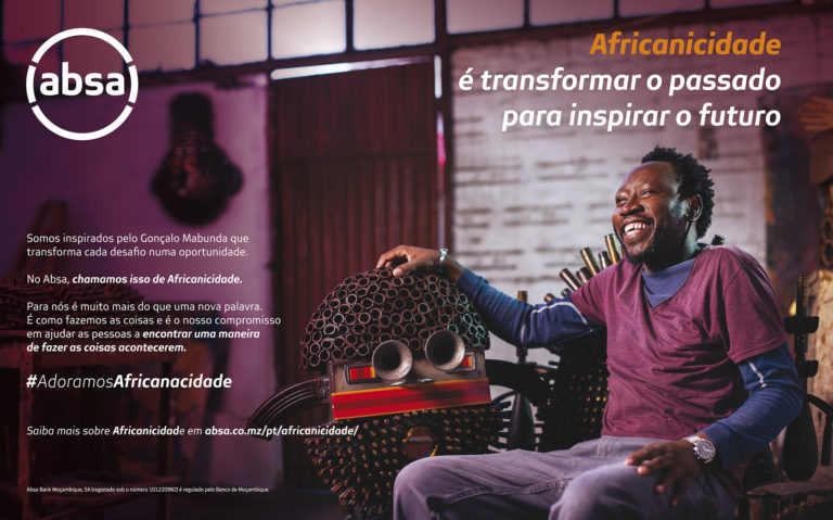 Portrait by Moiani's photographer, Joca Faria, of Mozambican Artist Gonçalo Mabunda. Advertising photography, in Mozambique, for ABSA Bank's Africanacity campaign.